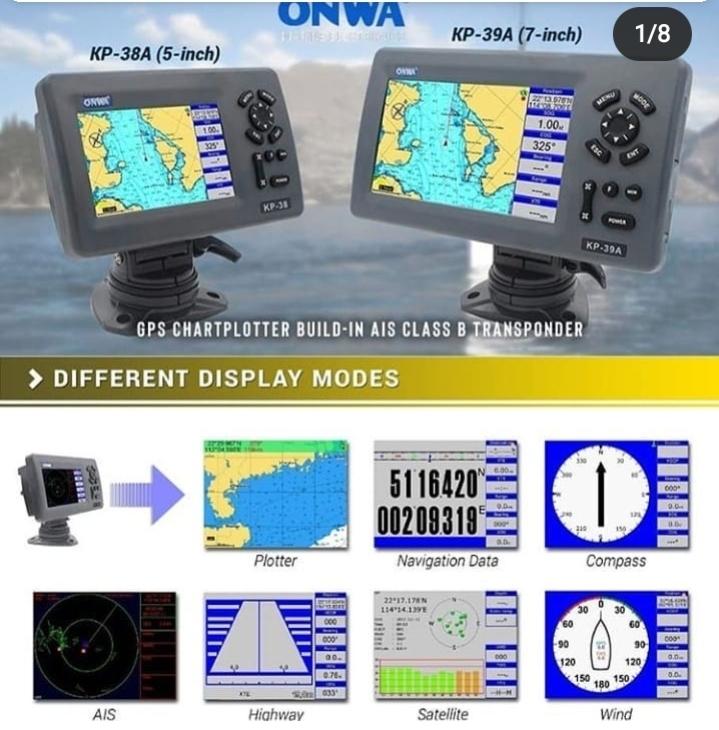 AIS CLASS B TRANSPONDER BUILD-IN GPS PLOTTER – ONWA KP 38A